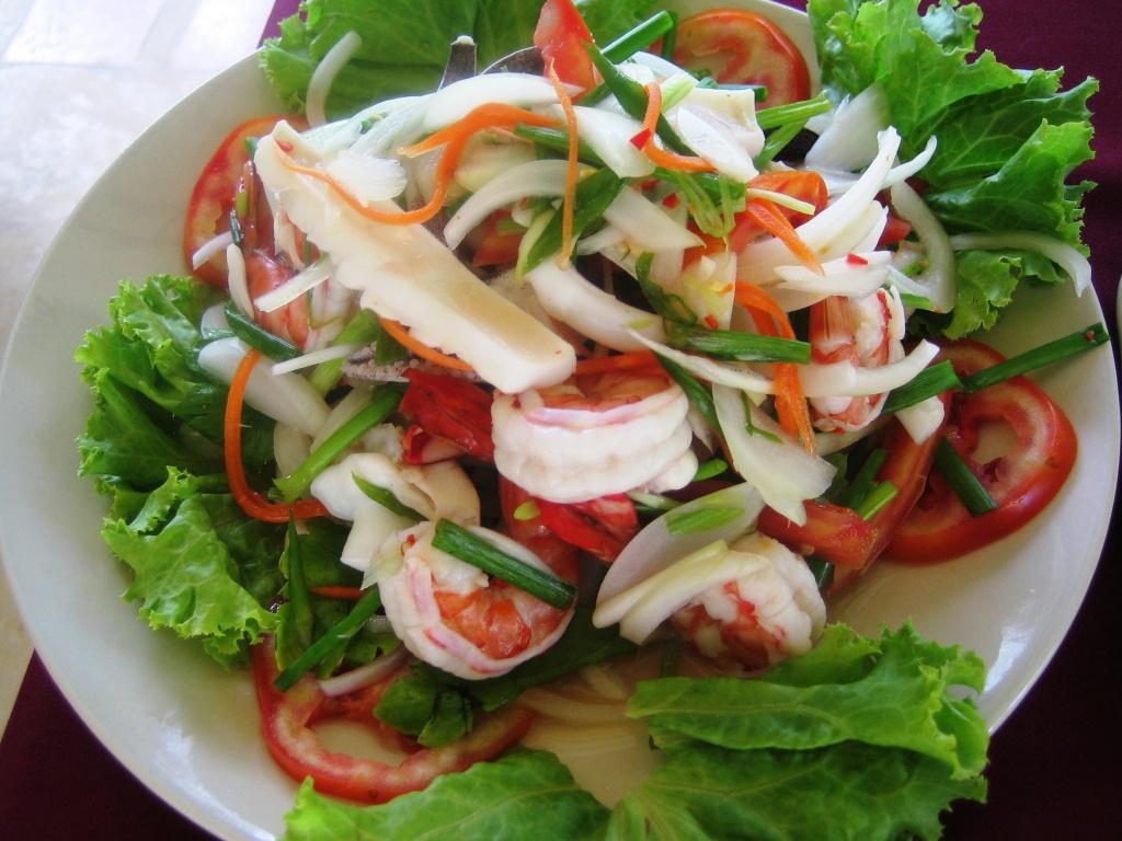 Tout pour une bonne recette de salade de fruits de mer !